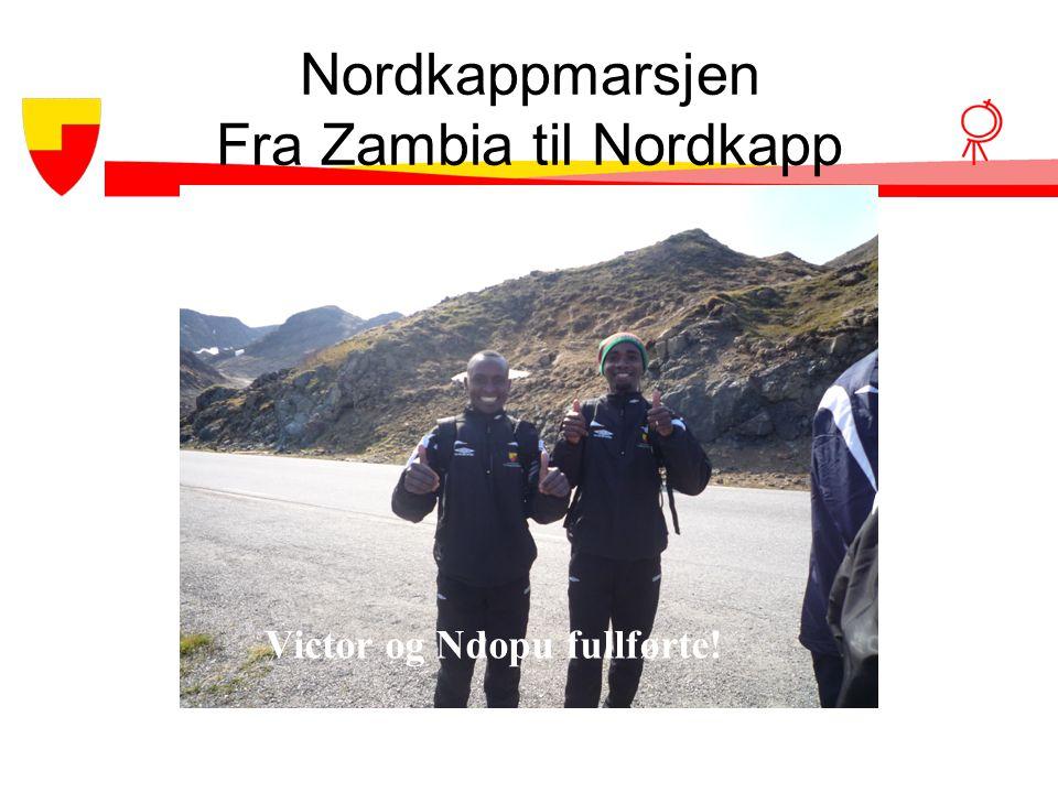 Nordkappmarsjen Fra Zambia til Nordkapp
