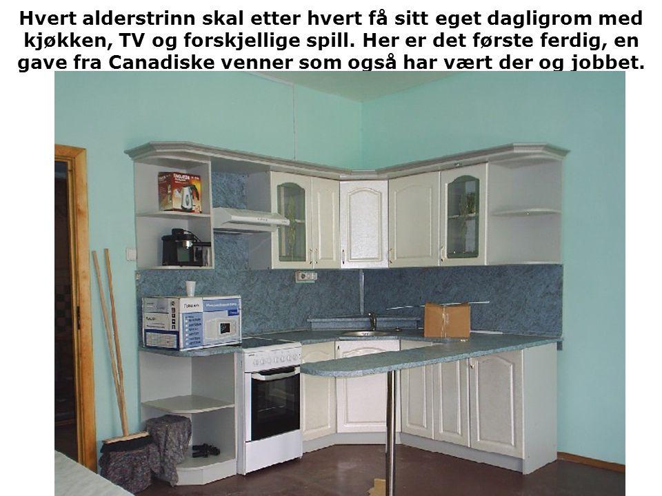 Hvert alderstrinn skal etter hvert få sitt eget dagligrom med kjøkken, TV og forskjellige spill.
