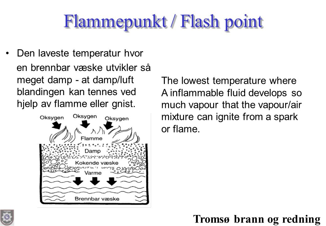Flammepunkt / Flash point