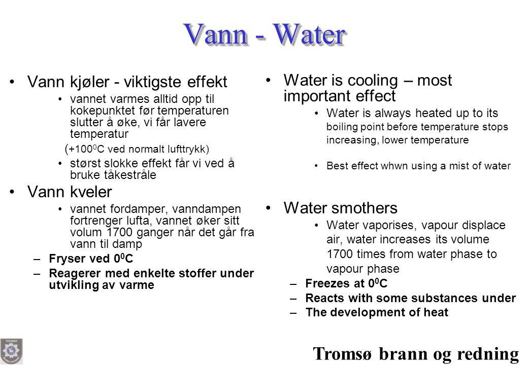 Vann - Water Tromsø brann og redning