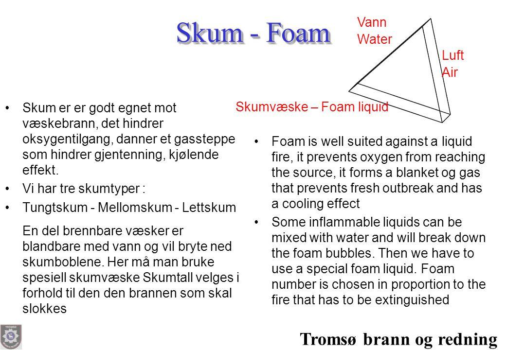Skum - Foam Tromsø brann og redning Vann Water Luft Air
