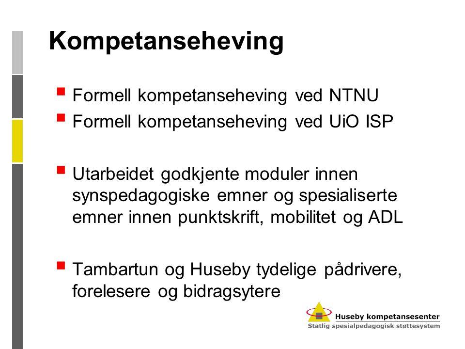Kompetanseheving Formell kompetanseheving ved NTNU