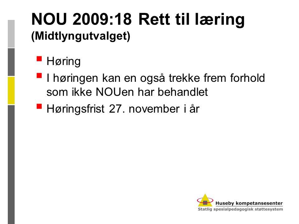NOU 2009:18 Rett til læring (Midtlyngutvalget)