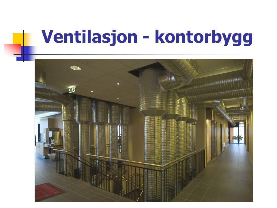 Ventilasjon - kontorbygg