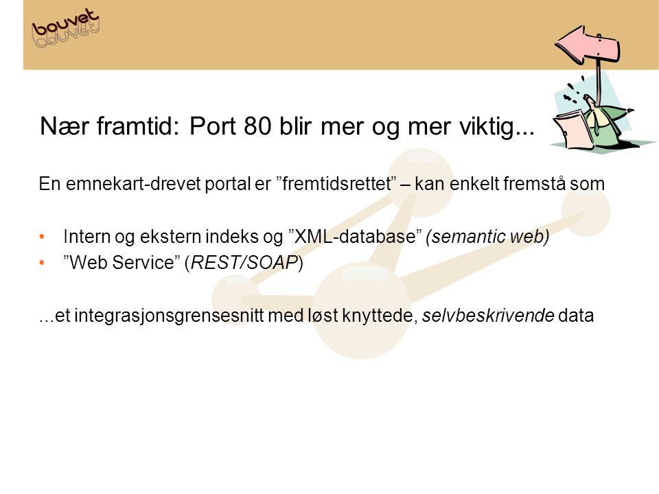 Nær framtid: Port 80 blir mer og mer viktig...