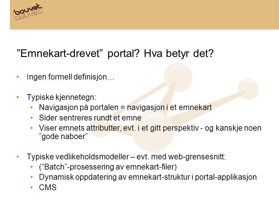 Emnekart-drevet portal Hva betyr det