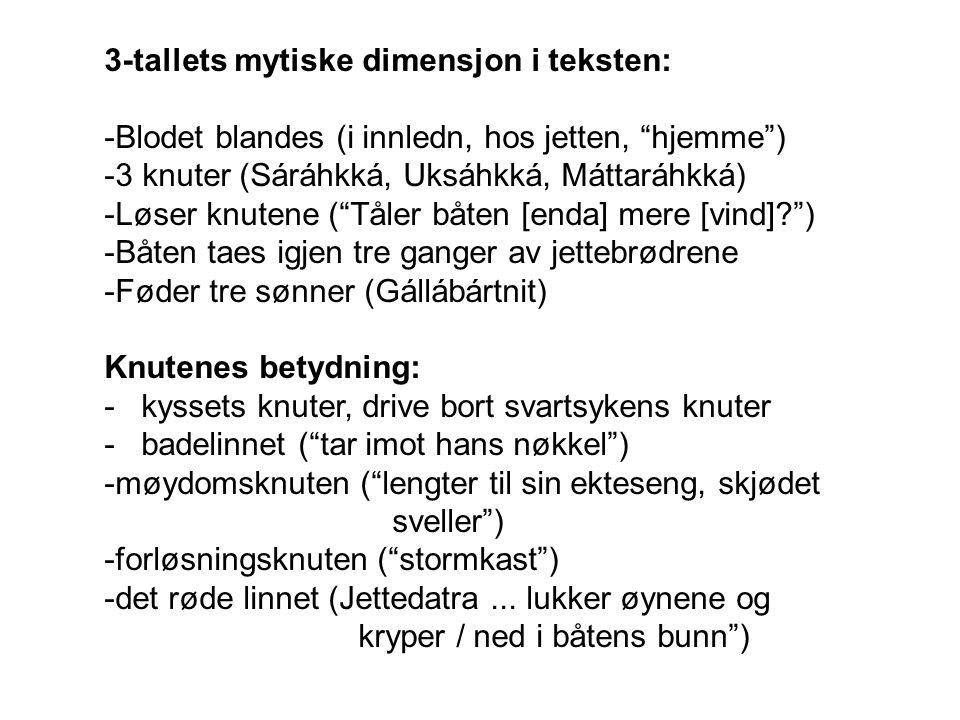 3-tallets mytiske dimensjon i teksten: