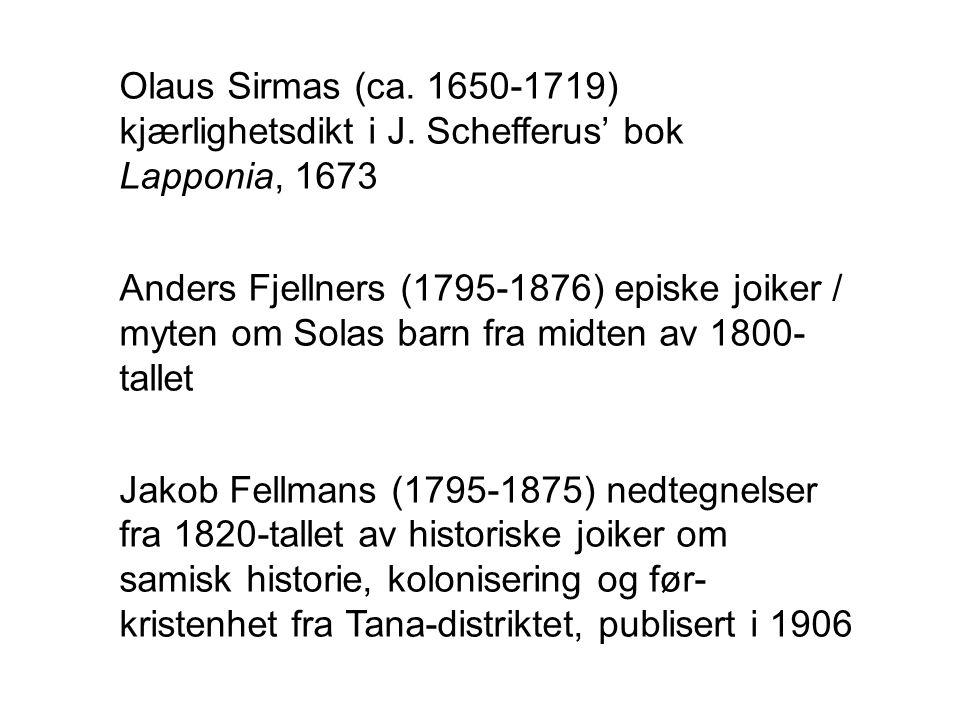 Olaus Sirmas (ca. 1650-1719) kjærlighetsdikt i J
