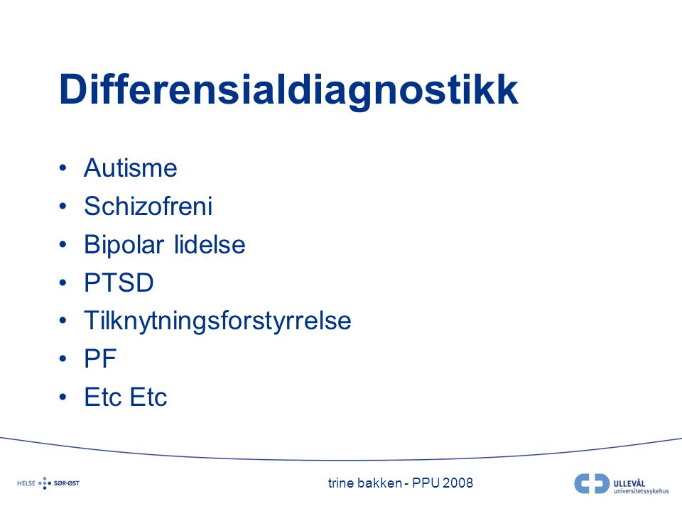 Differensialdiagnostikk