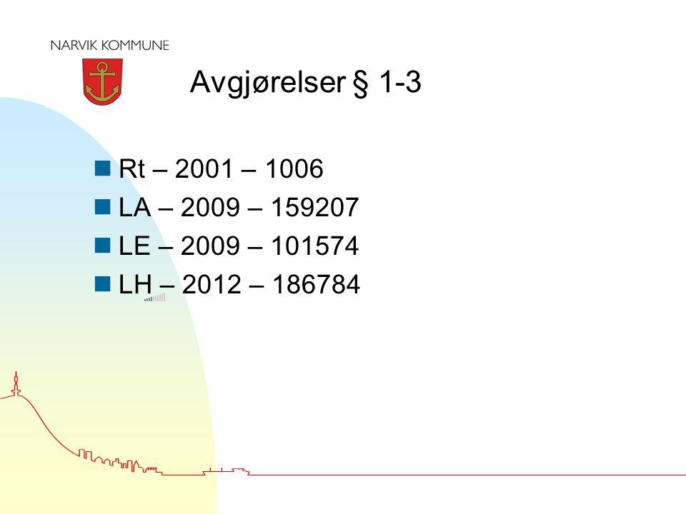 Avgjørelser § 1-3 Rt – 2001 – 1006 LA – 2009 – 159207