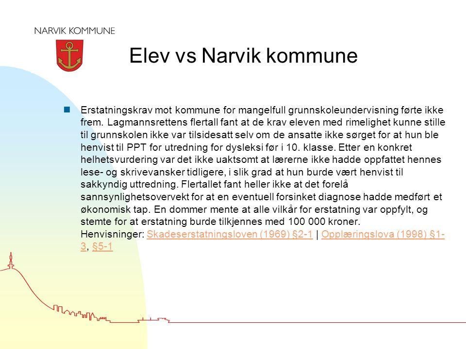 Elev vs Narvik kommune