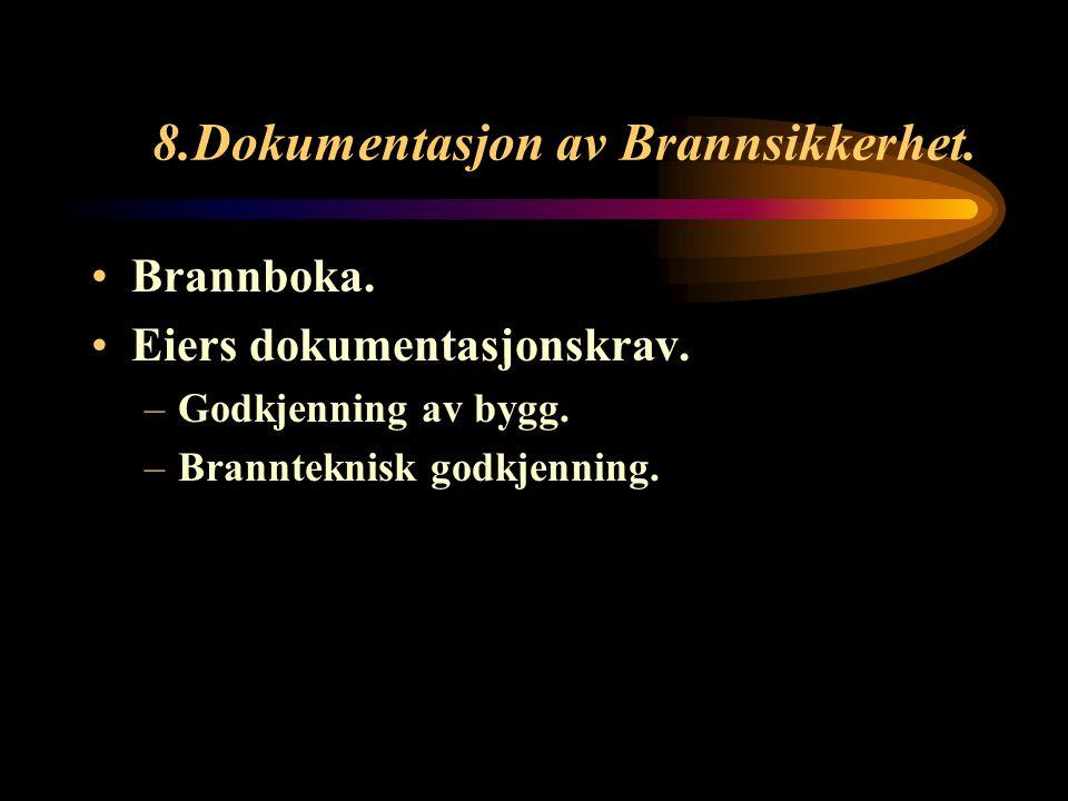 8.Dokumentasjon av Brannsikkerhet.