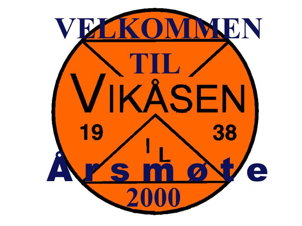VELKOMMEN TIL Å r s m ø t e 2000