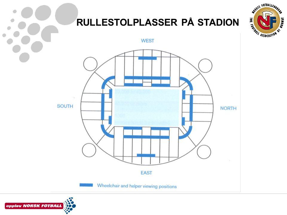 RULLESTOLPLASSER PÅ STADION