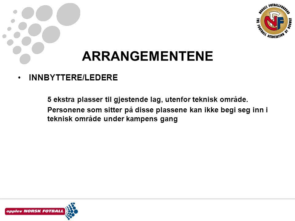 ARRANGEMENTENE INNBYTTERE/LEDERE