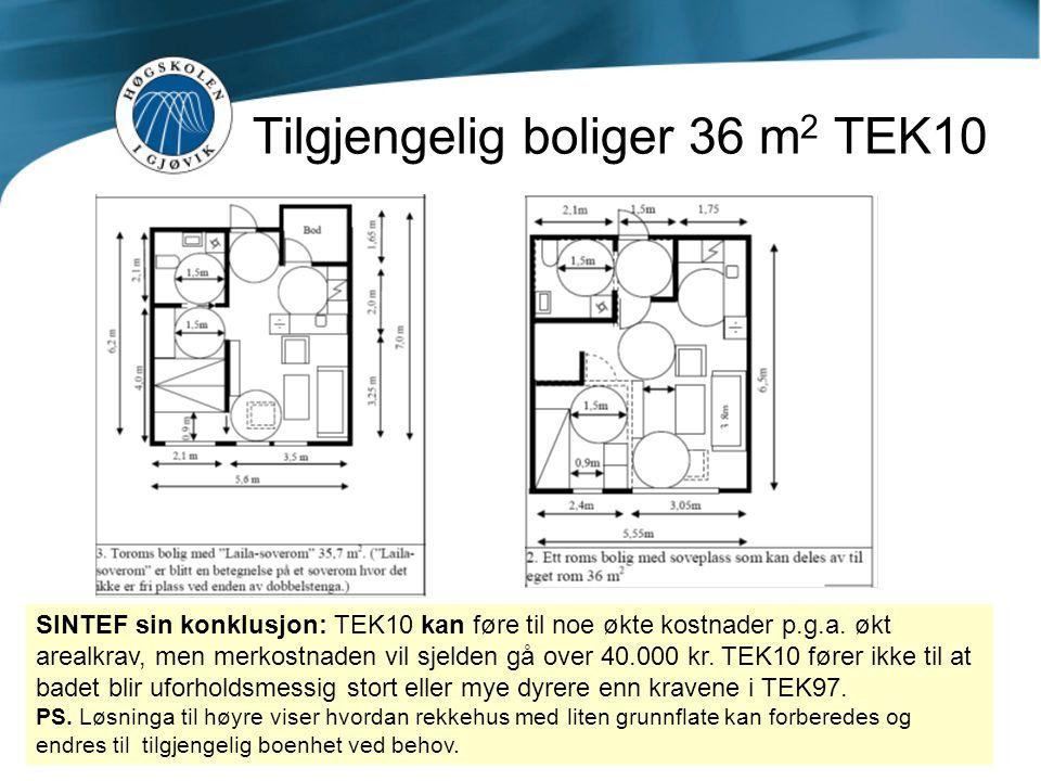 Tilgjengelig boliger 36 m2 TEK10