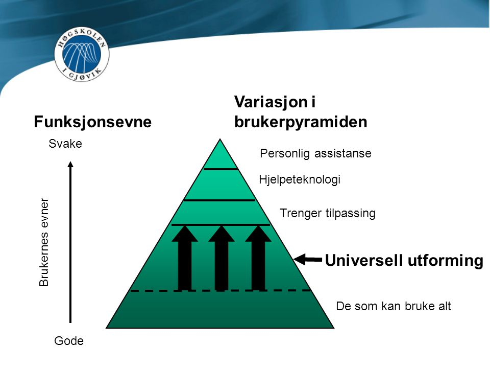 Variasjon i Funksjonsevne brukerpyramiden