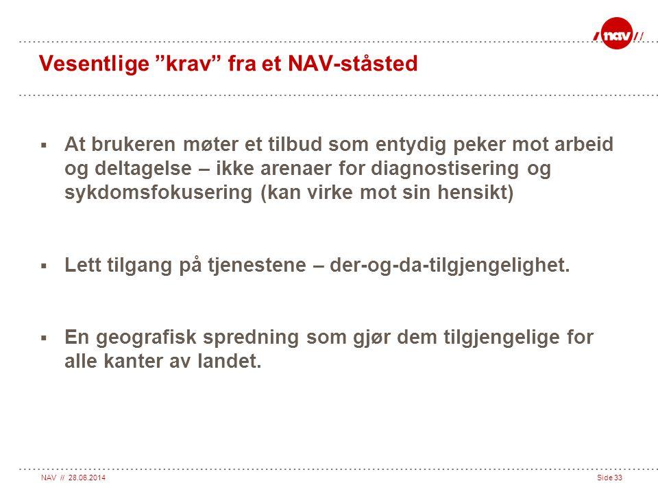 Vesentlige krav fra et NAV-ståsted