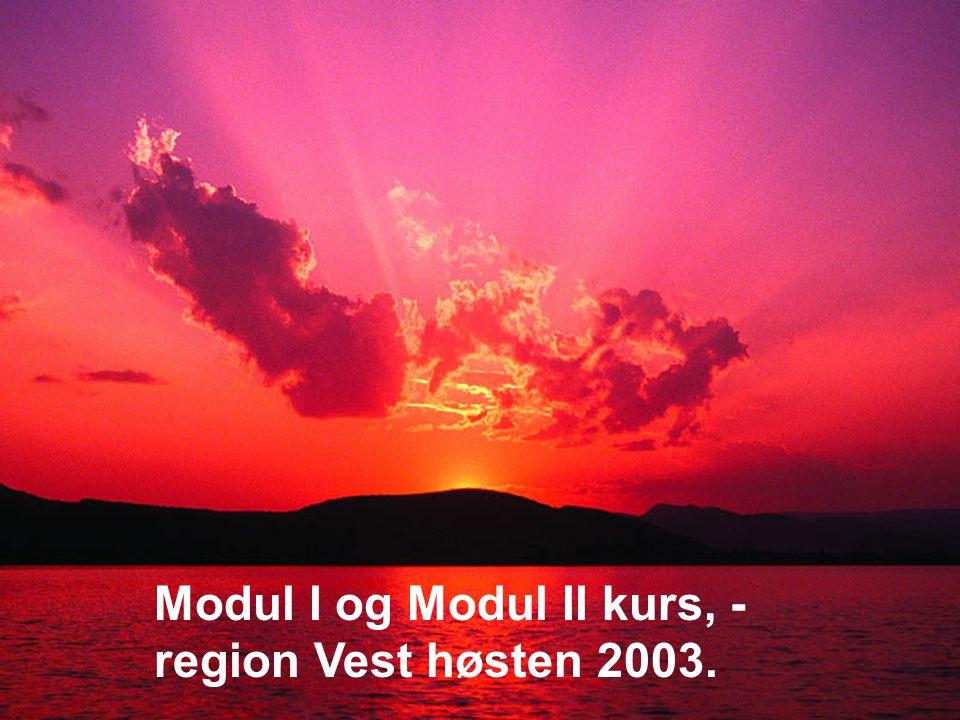 Modul I og Modul II kurs, - region Vest høsten 2003.
