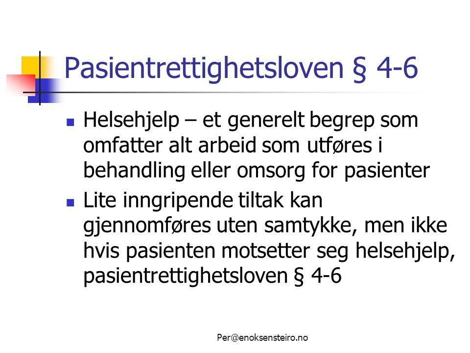 Pasientrettighetsloven § 4-6