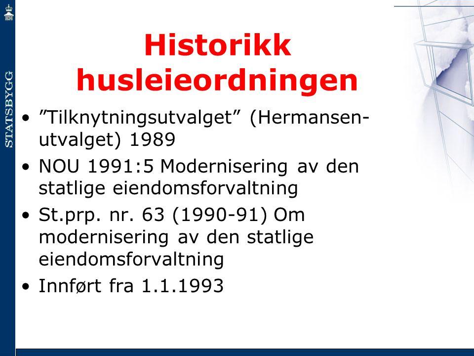 Historikk husleieordningen