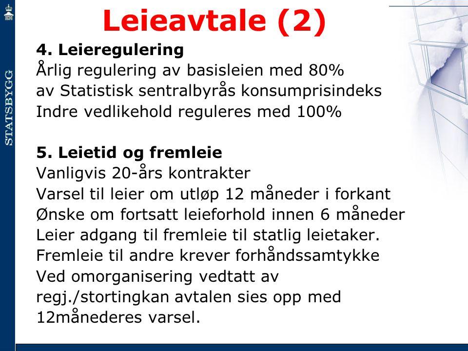 Leieavtale (2) 4. Leieregulering
