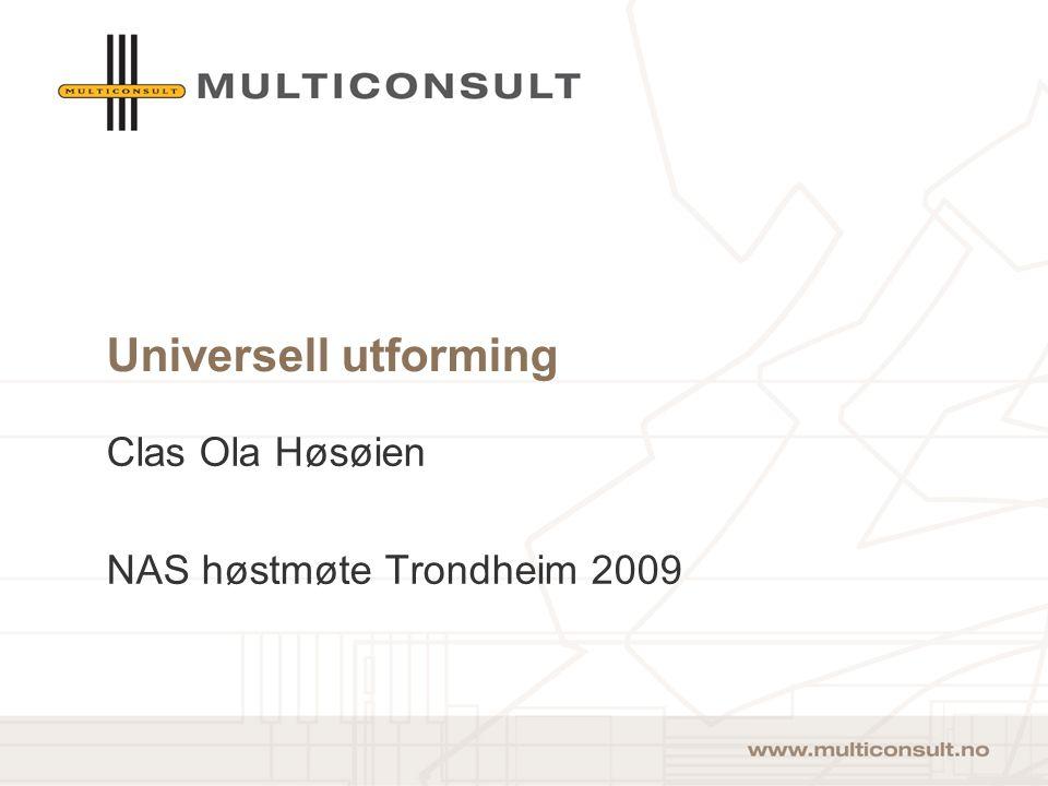 Clas Ola Høsøien NAS høstmøte Trondheim 2009