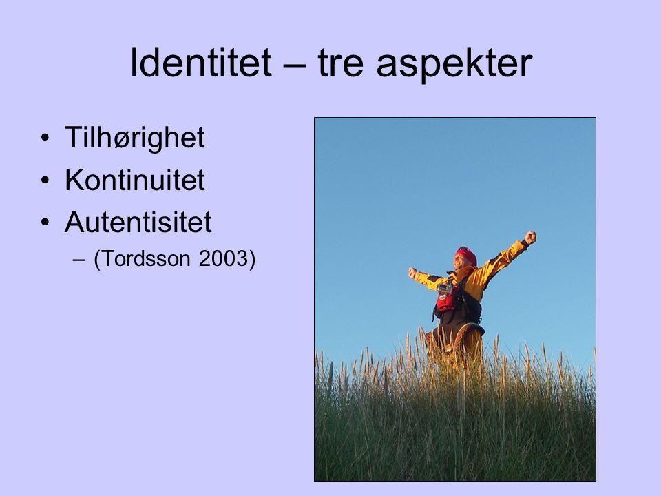 Identitet – tre aspekter