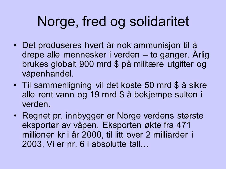 Norge, fred og solidaritet