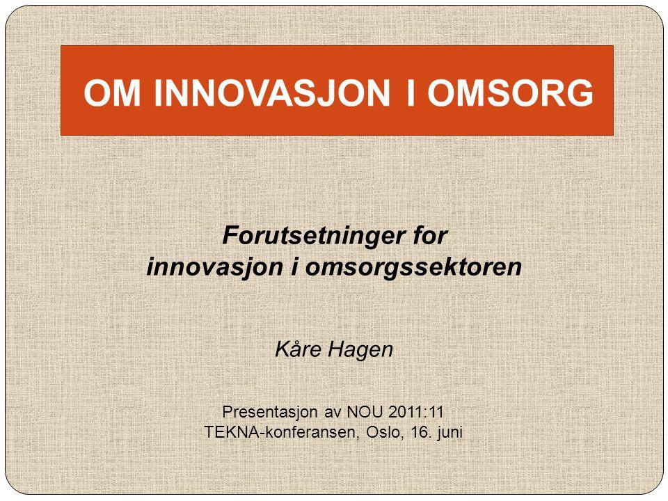 innovasjon i omsorgssektoren