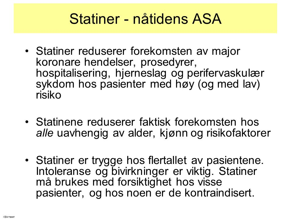 Statiner - nåtidens ASA