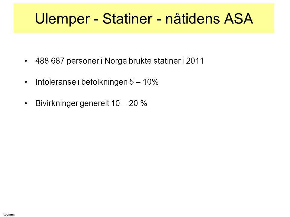 Ulemper - Statiner - nåtidens ASA
