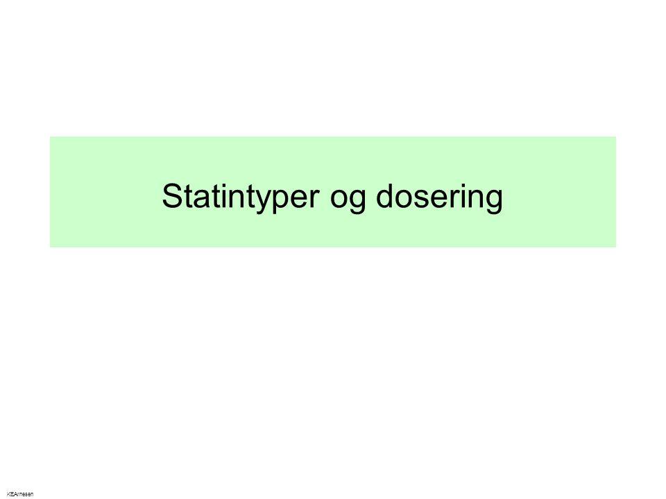 Statintyper og dosering