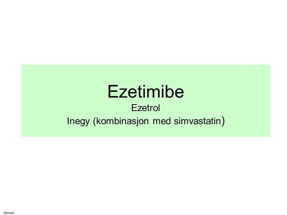 Ezetimibe Ezetrol Inegy (kombinasjon med simvastatin)
