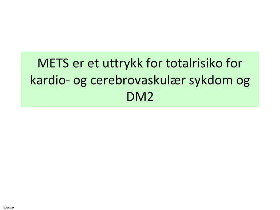 METS er et uttrykk for totalrisiko for kardio- og cerebrovaskulær sykdom og DM2