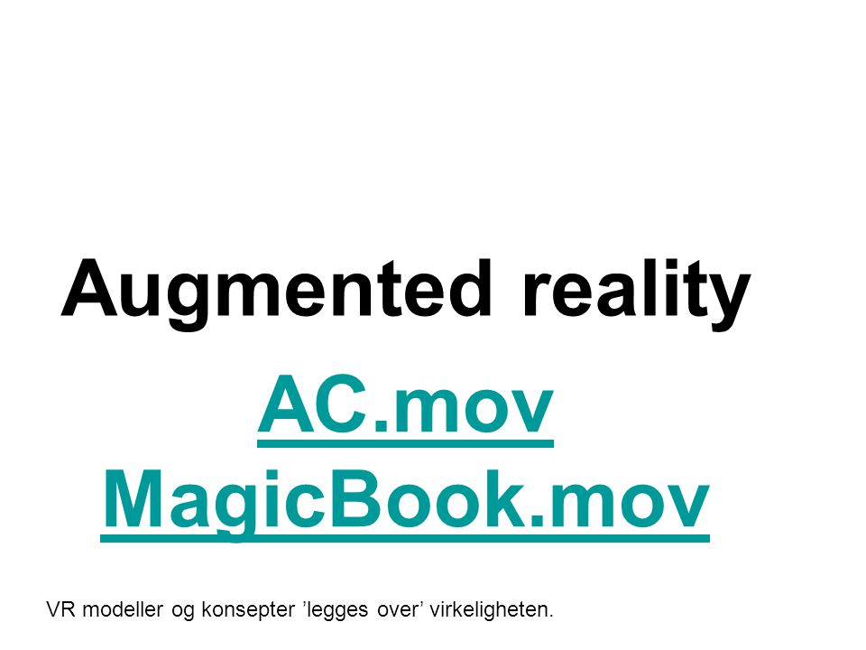 Augmented reality AC.mov MagicBook.mov