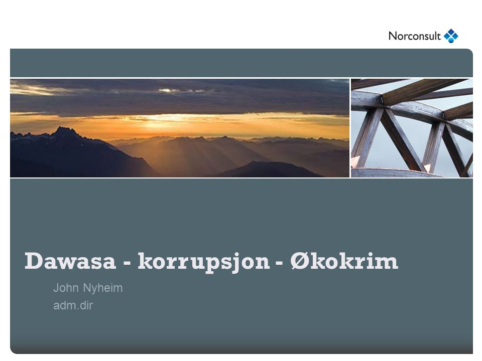 Dawasa - korrupsjon - Økokrim