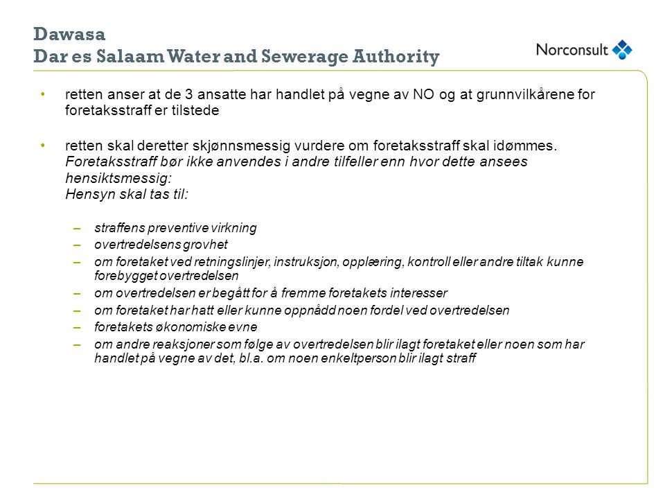 Dawasa Dar es Salaam Water and Sewerage Authority