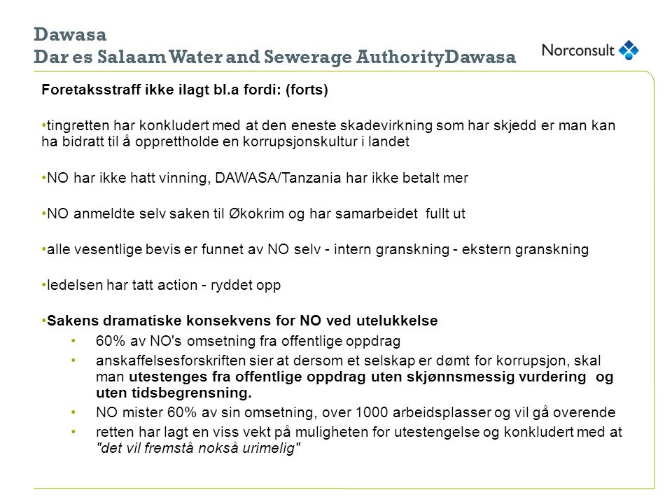 Dawasa Dar es Salaam Water and Sewerage AuthorityDawasa