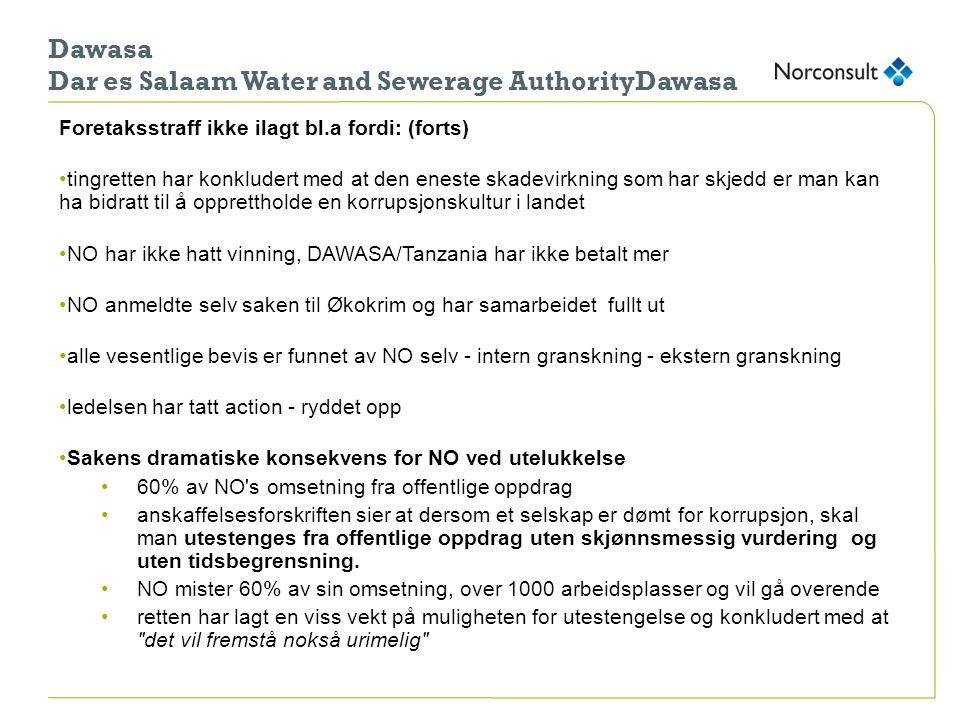 Dawasa Dar es Salaam Water and Sewerage AuthorityDawasa