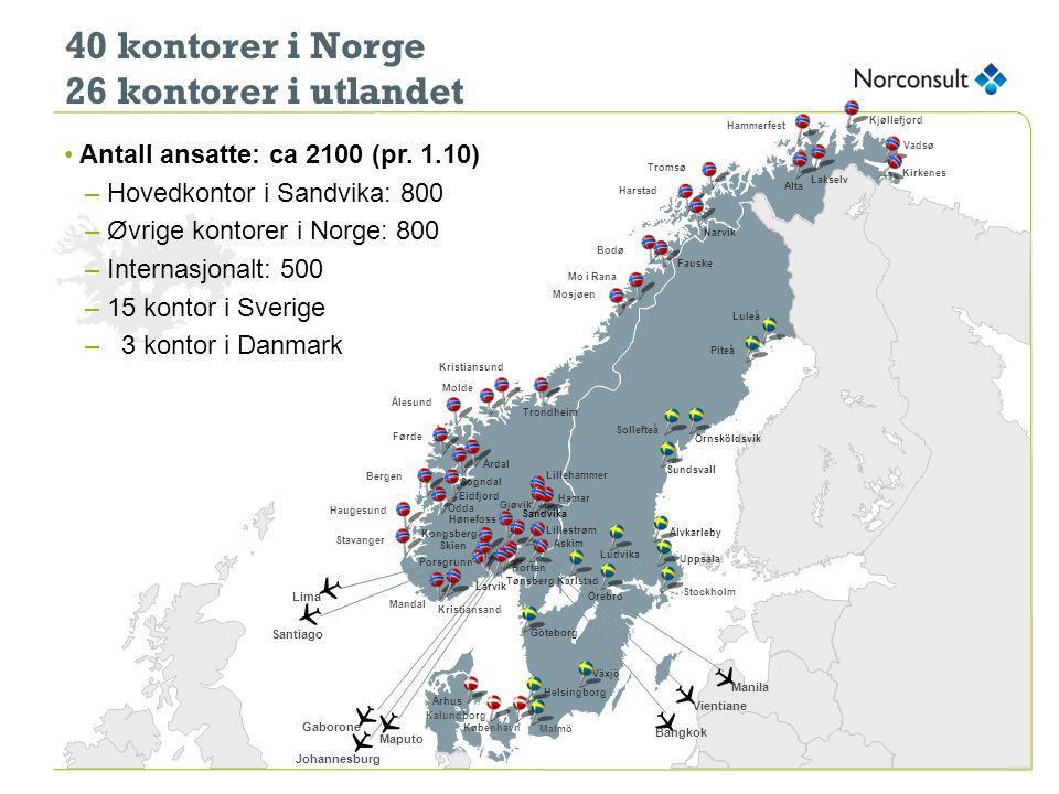 40 kontorer i Norge 26 kontorer i utlandet Q Q Q Q Q Q Q Q
