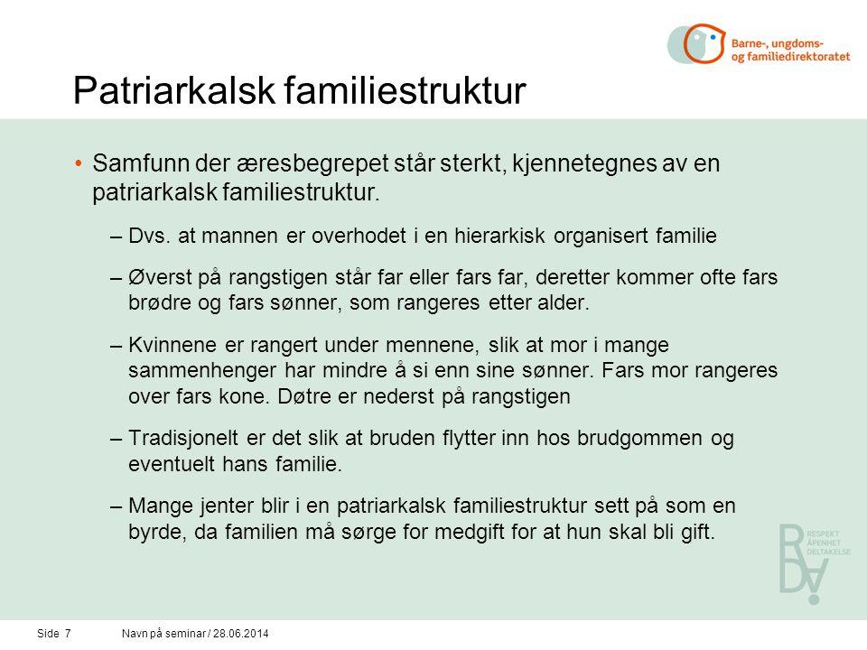 Patriarkalsk familiestruktur