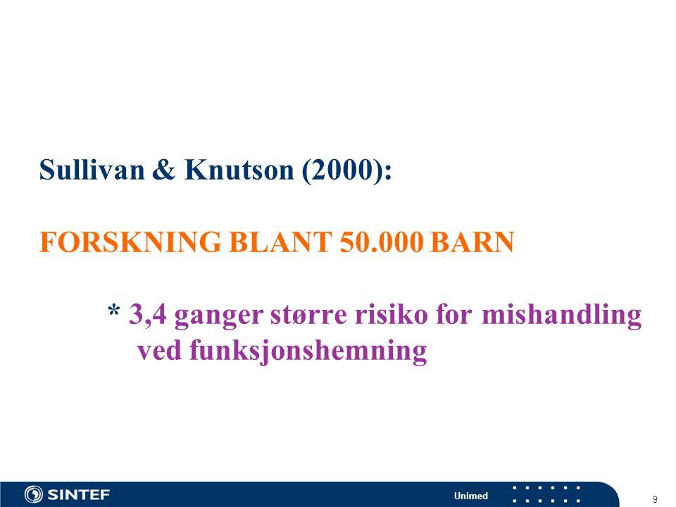Sullivan & Knutson (2000): FORSKNING BLANT 50. 000 BARN
