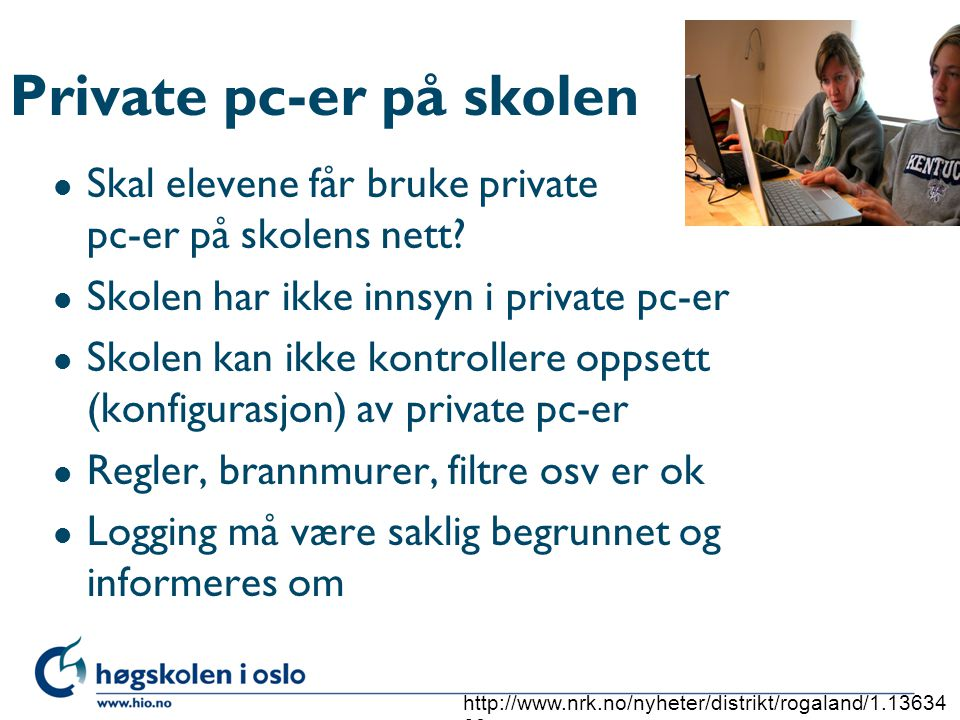 Private pc-er på skolen
