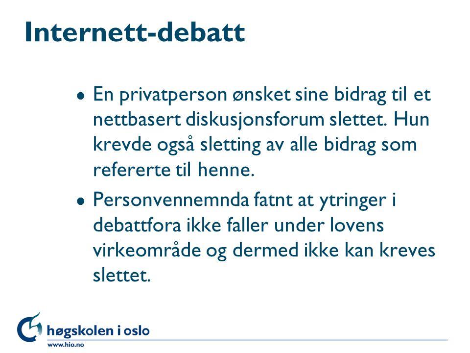 Internett-debatt