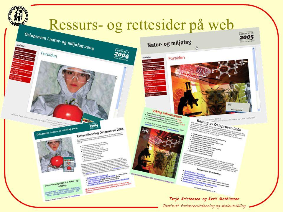 Ressurs- og rettesider på web