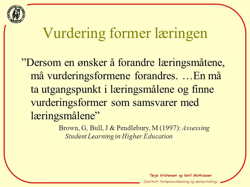 Vurdering former læringen