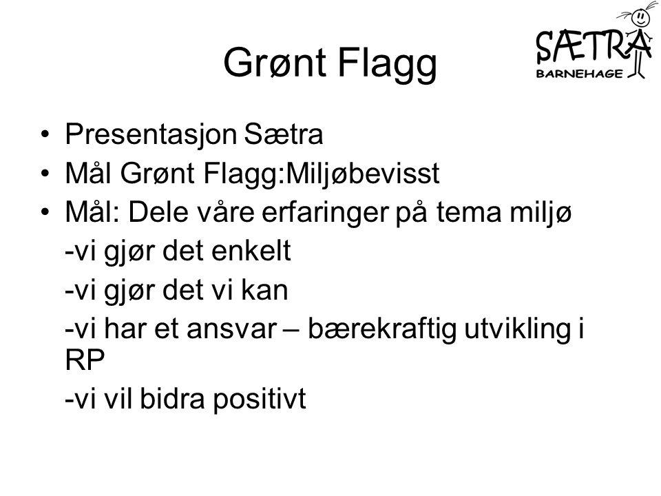 Grønt Flagg Presentasjon Sætra Mål Grønt Flagg:Miljøbevisst