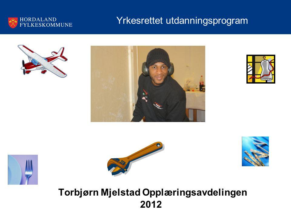 Torbjørn Mjelstad Opplæringsavdelingen 2012