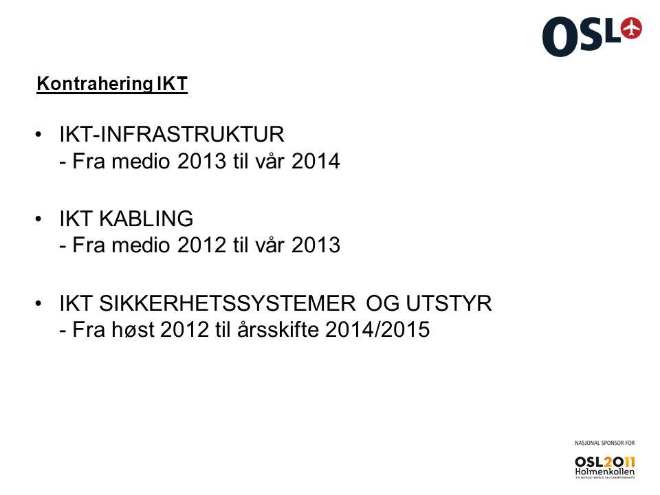 IKT-INFRASTRUKTUR - Fra medio 2013 til vår 2014